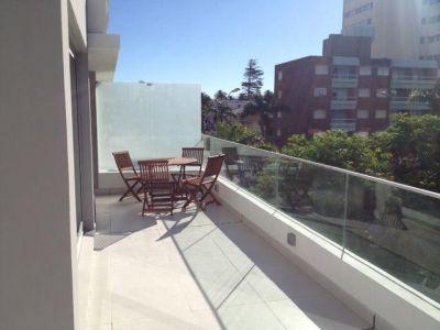 apartamento en alquiler anual con parrillero propio, zona de Península