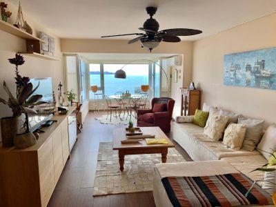 apartamento en mansa frente al mar